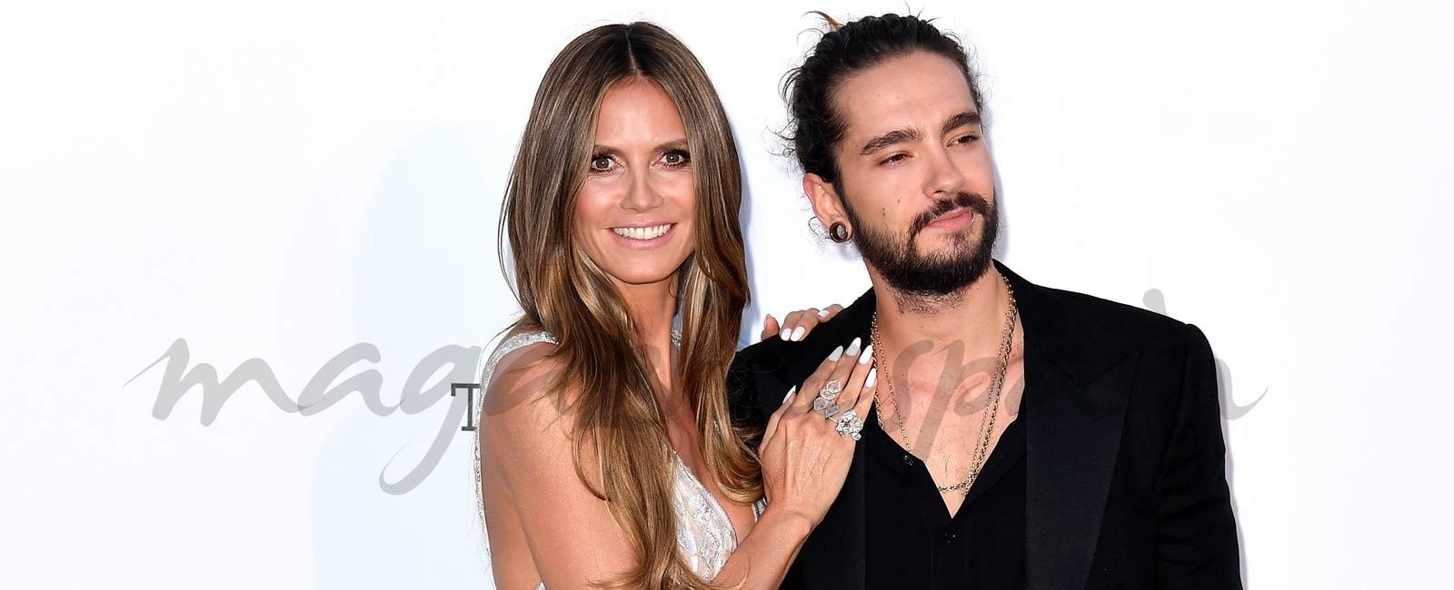Heidi Klum presenta a su novio en la alfombra roja de la gala amfAR