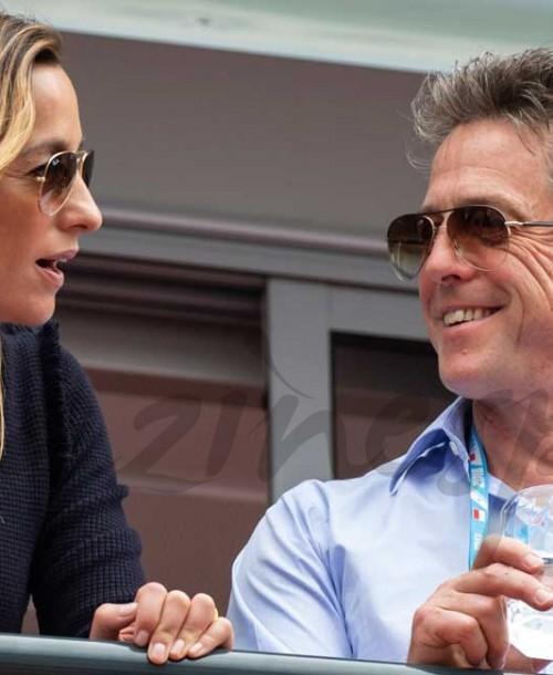 Hugh Grant y Anna Eberstein, luna de miel en la F1