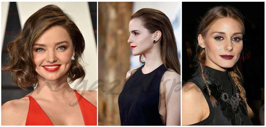Miranda Kerr (Fake Bob), Emma Watson (Wet Look) y Olivia Palermo (Coleta francesa)