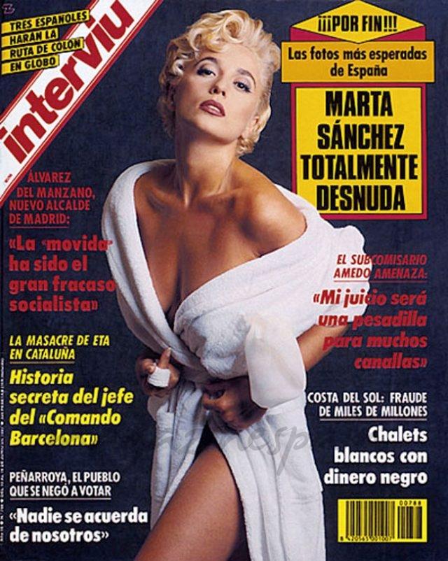 Marta Sánchez - Interviú - 1991