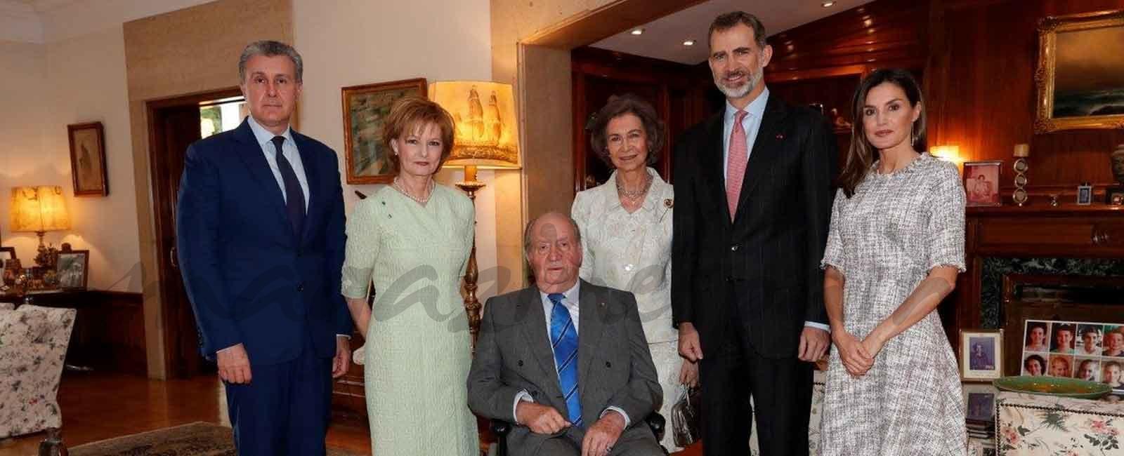 Los reyes Felipe y Letizia y los reyes Juan Carlos y Sofía, almuerzo con Margareta y Radu de Rumanía