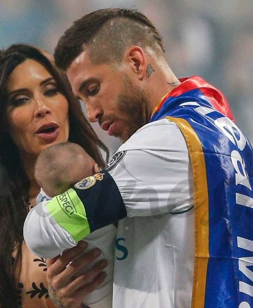 Sergio Ramos presume de familia en la celebración de la Champions