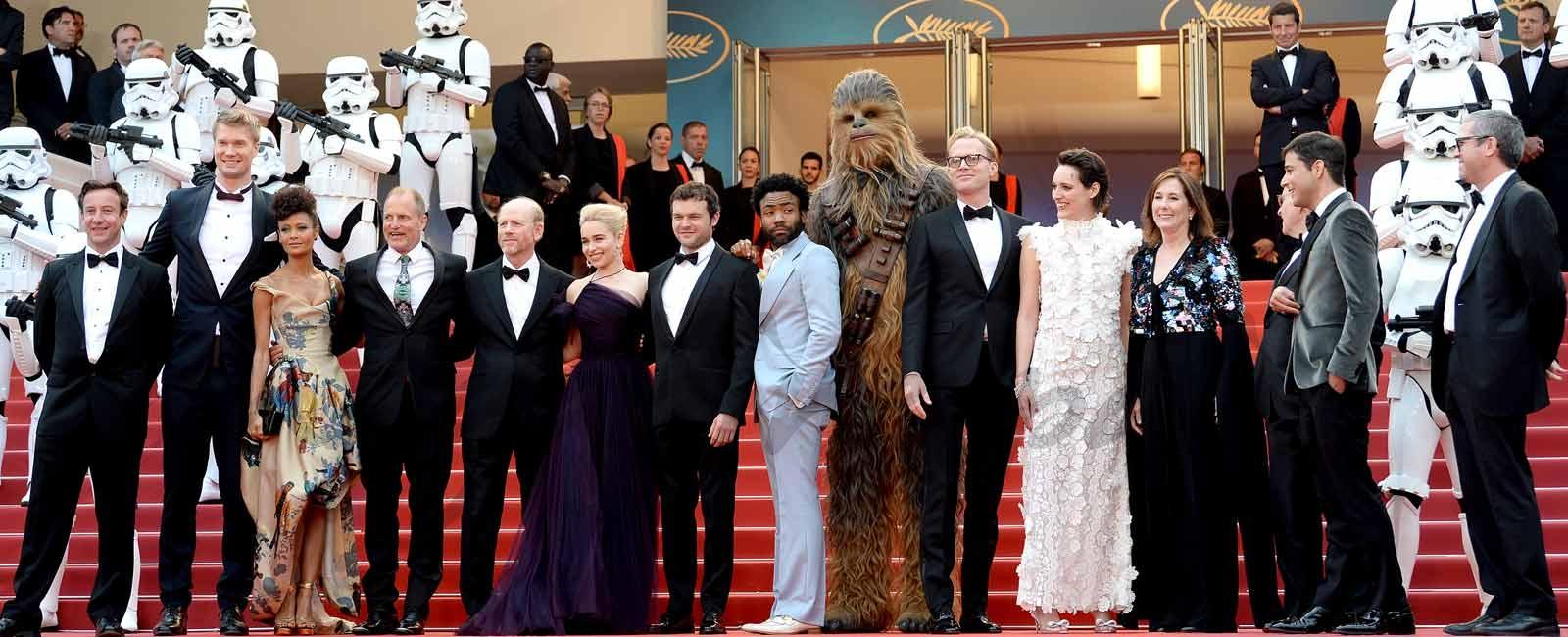 La espectacular alfombra roja de «Solo: Una historia de Star Wars» en Cannes