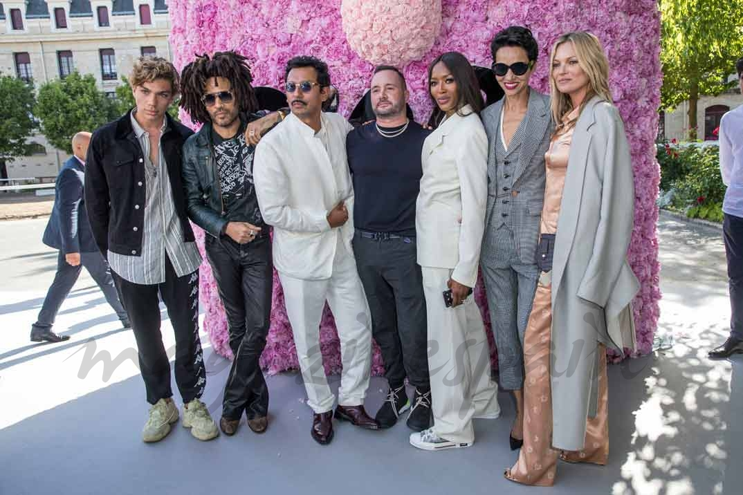 Elias Becker, Lenny Kravitz, Haider Ackermann, Kim Jones, Naomi Campbell, Farida Khelfa, Kate Moss