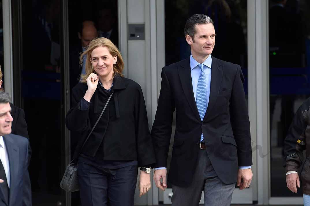Infanta Cristina e Iñaki Urdangarin durante el juicio del Caso Noos - Febrero 2016