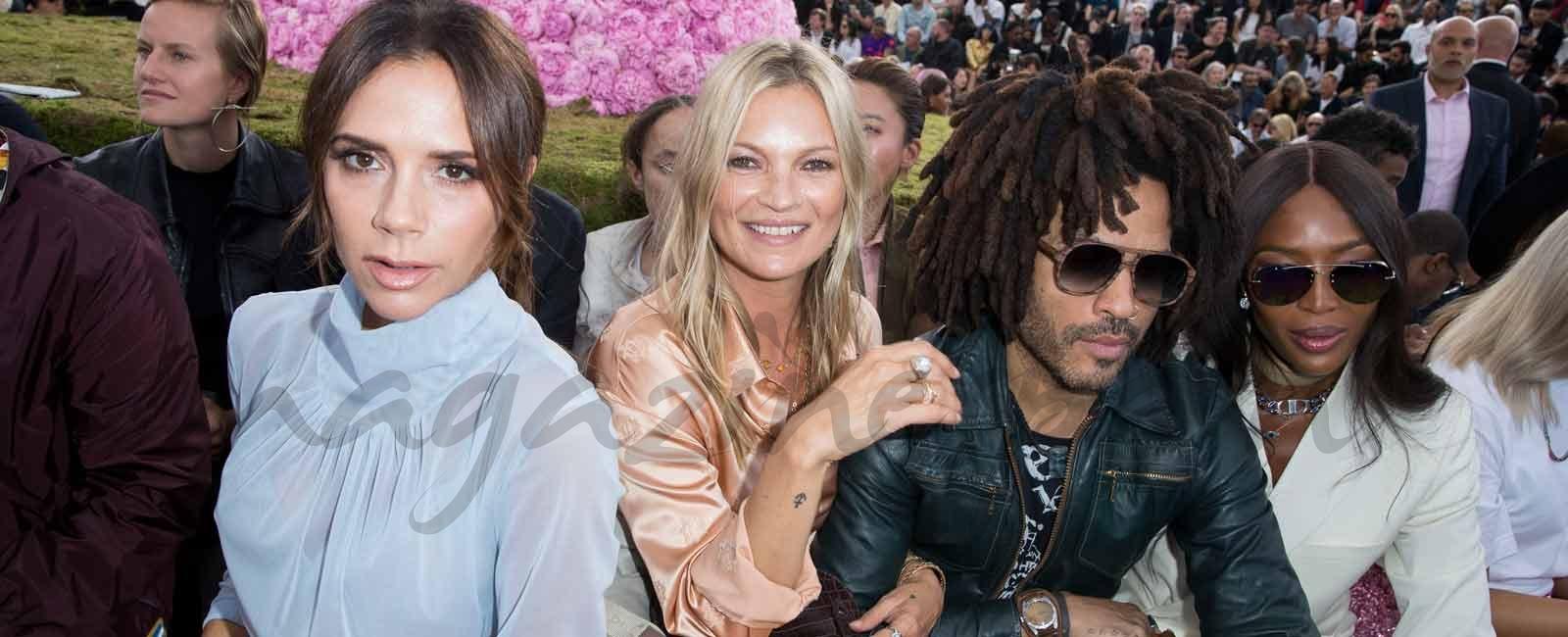Desfile de famosos VIP en el front row de Dior  Homme