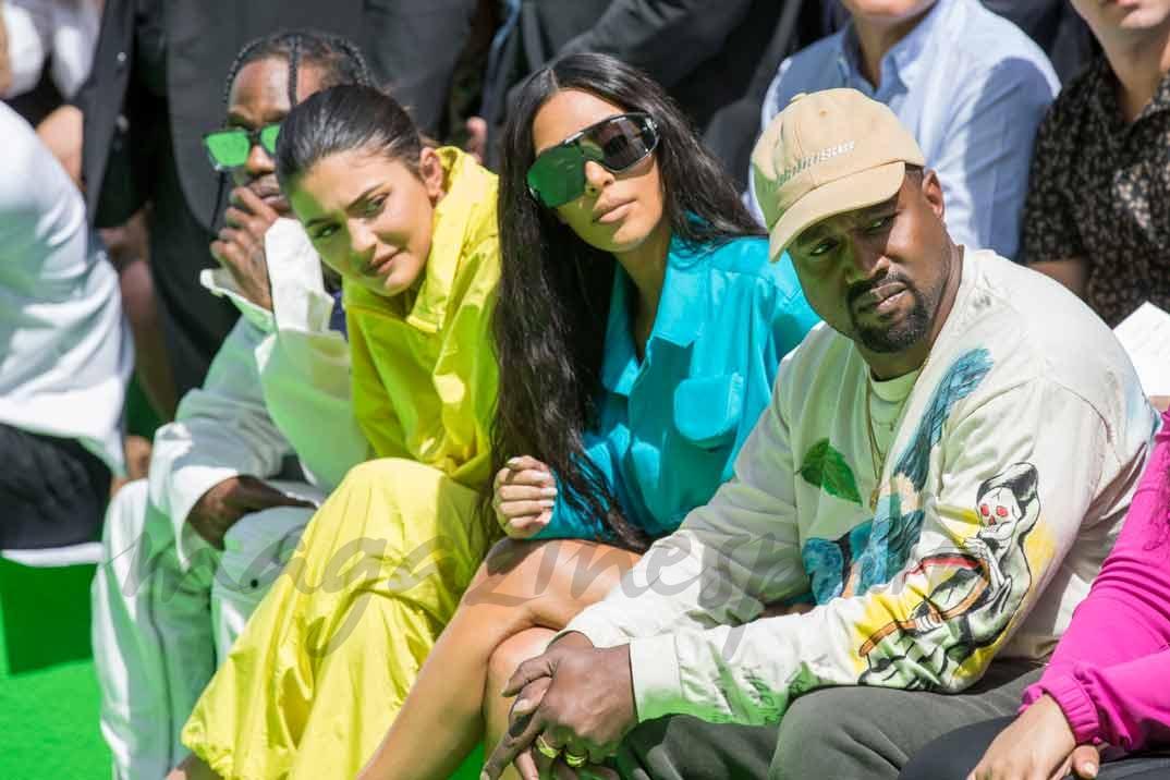 Kylie Jenner, Kim Kardashian y Kanye West
