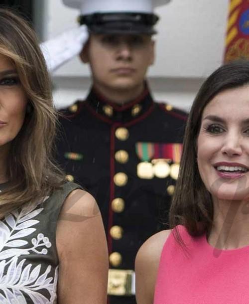 """La reina Letizia le """"copia"""" el look a Melania Trump"""