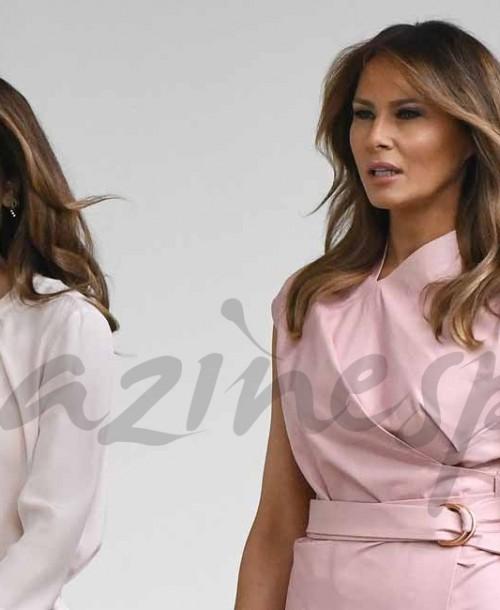 El duelo en rosa de Melania Trump y Rania de Jordania