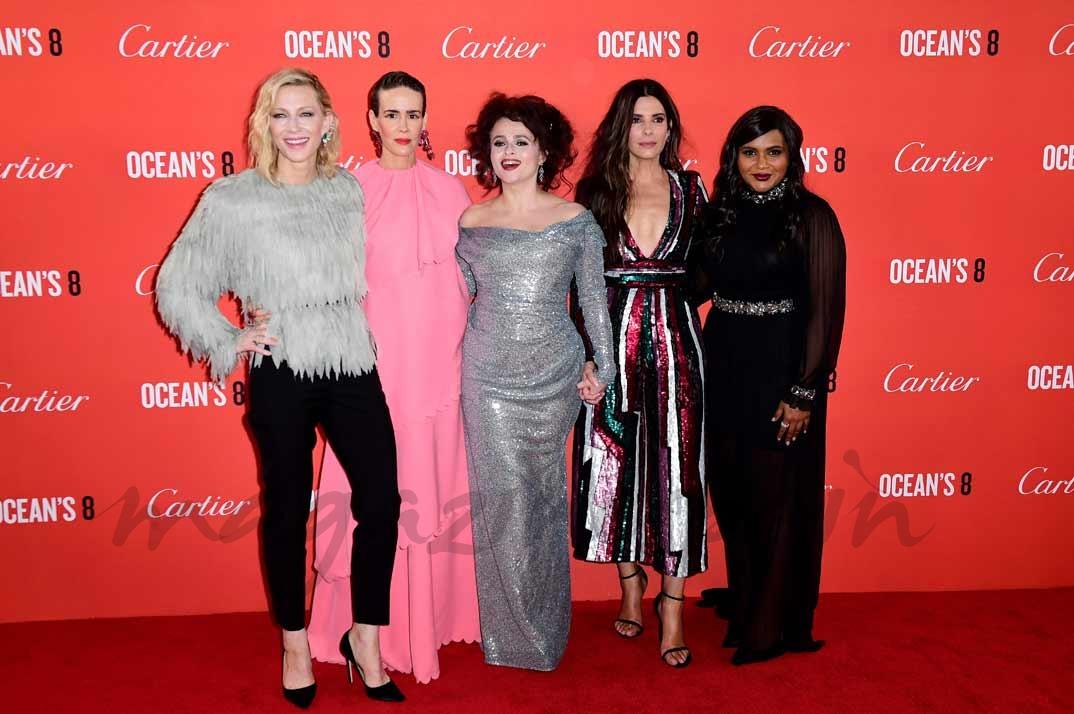Cate Blanchett, Sarah Paulson, Helena Bonham Carter, Sandra Bullock y Mindy Kaling