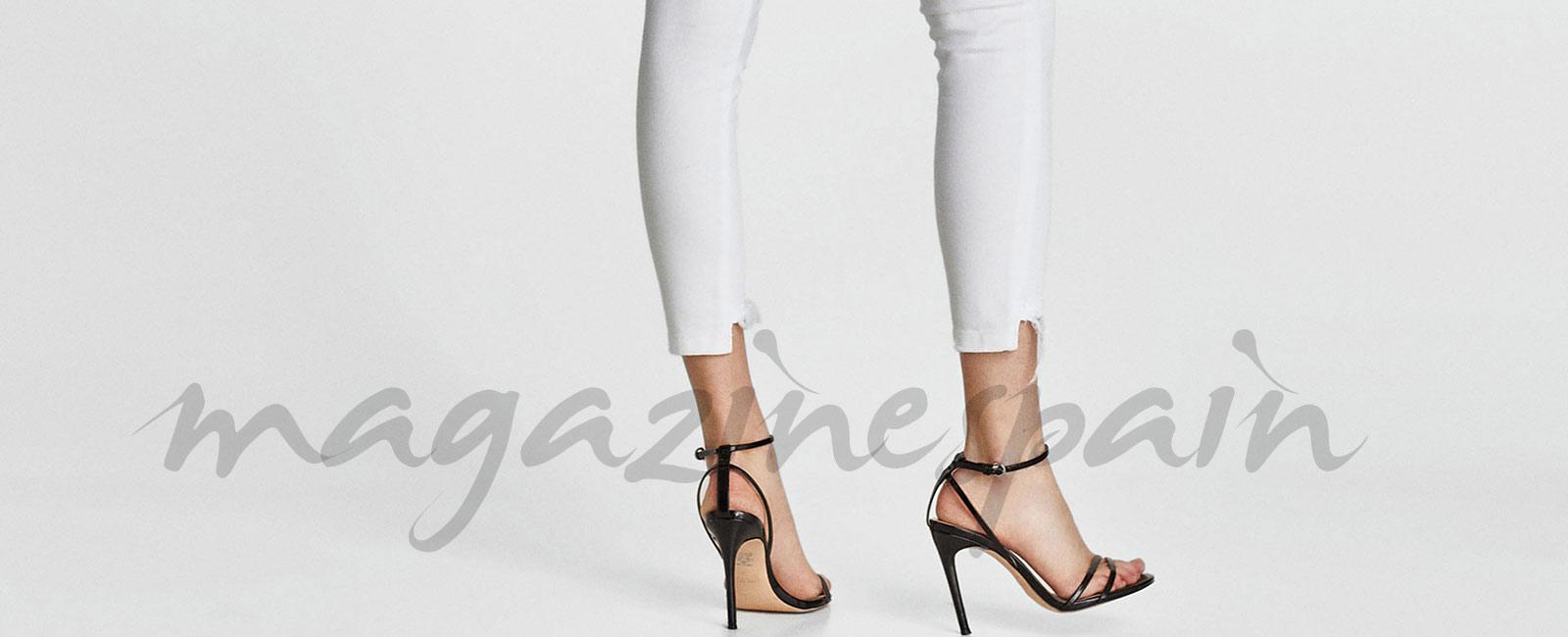 ¿Cómo combino unos jeans blancos?