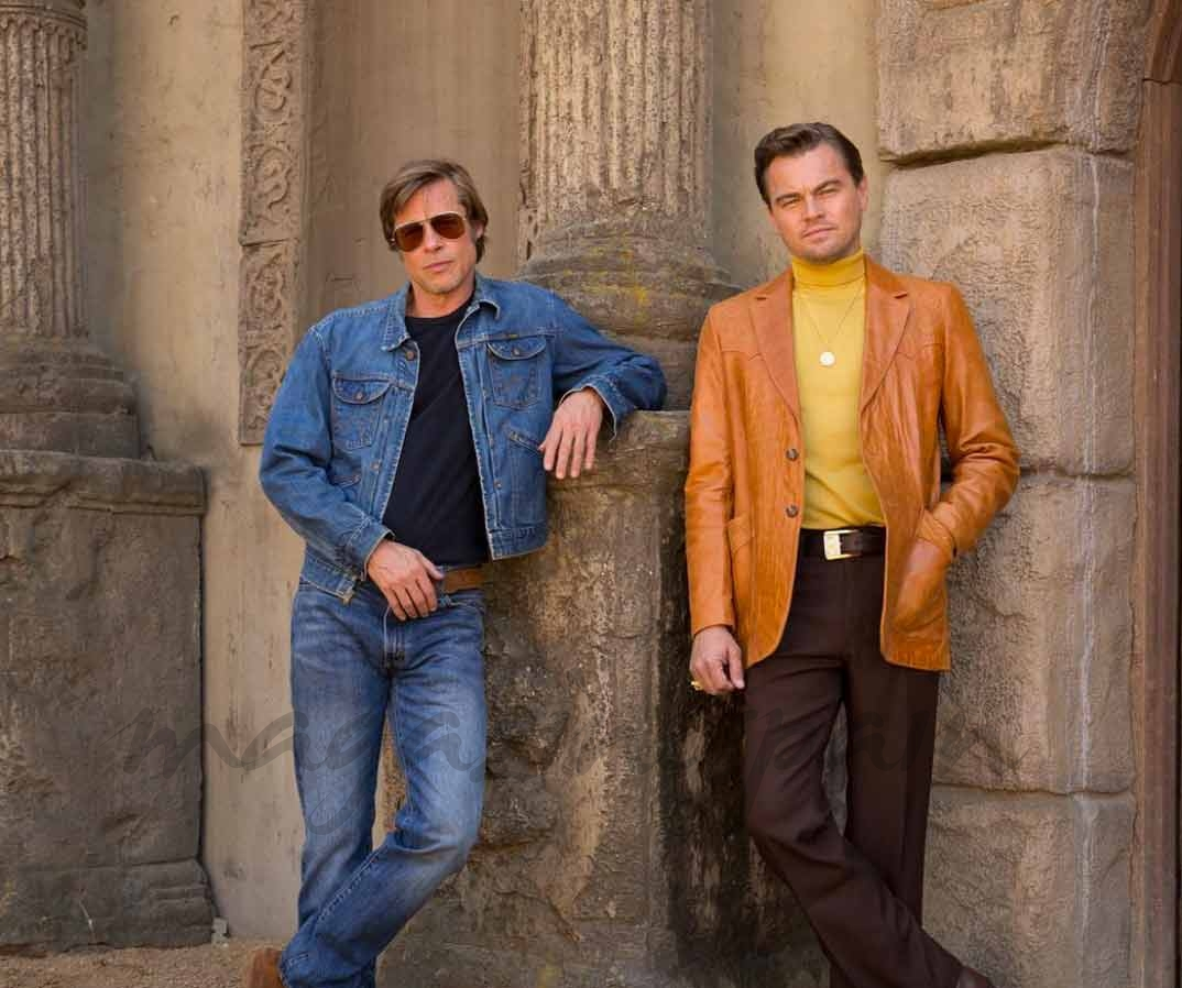 "Brad Pitt y Leonardo DiCaprio en ""Once Upon a Time in Hollywood"""
