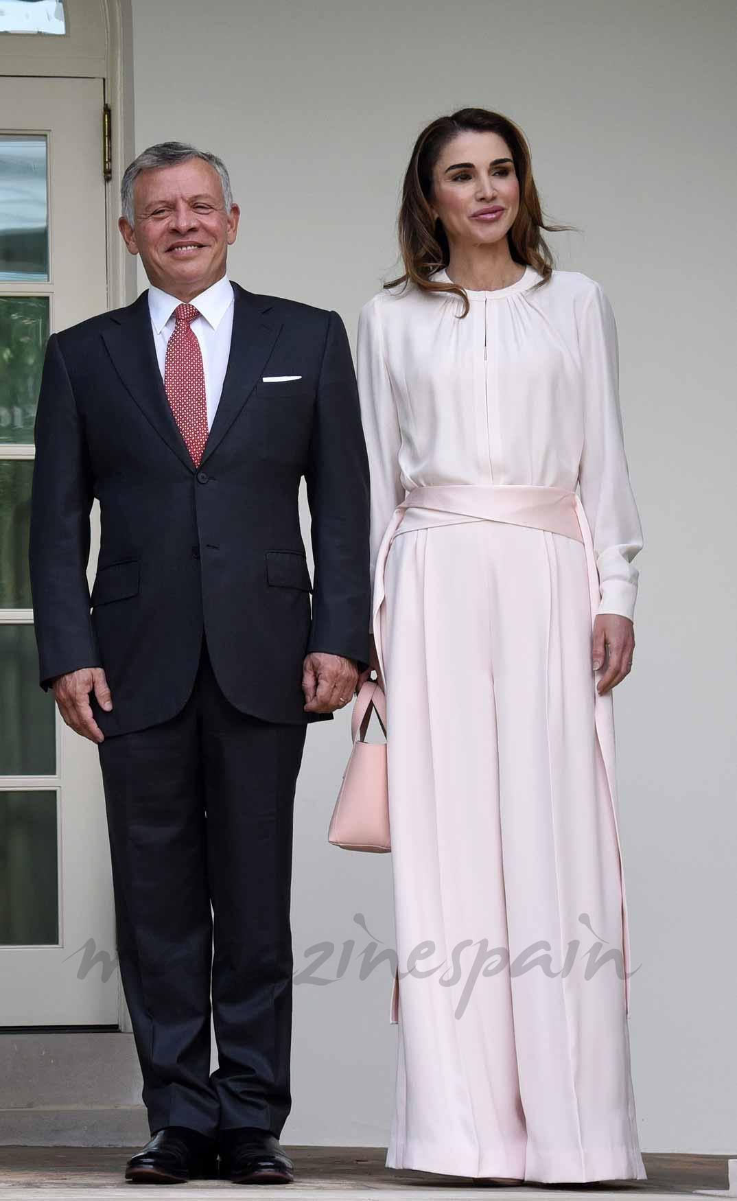 Rey Abdulá y reina Rania de Jordania