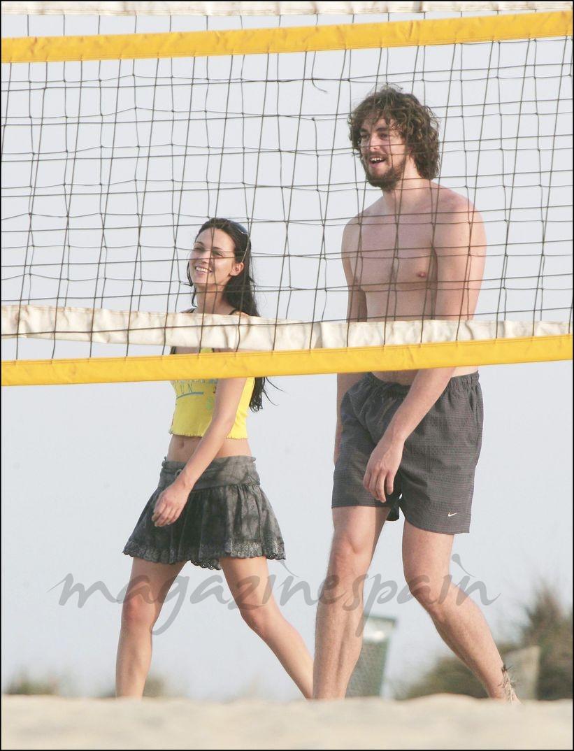 Pau Gasol con su novia Poianka en Ibiza - 2006