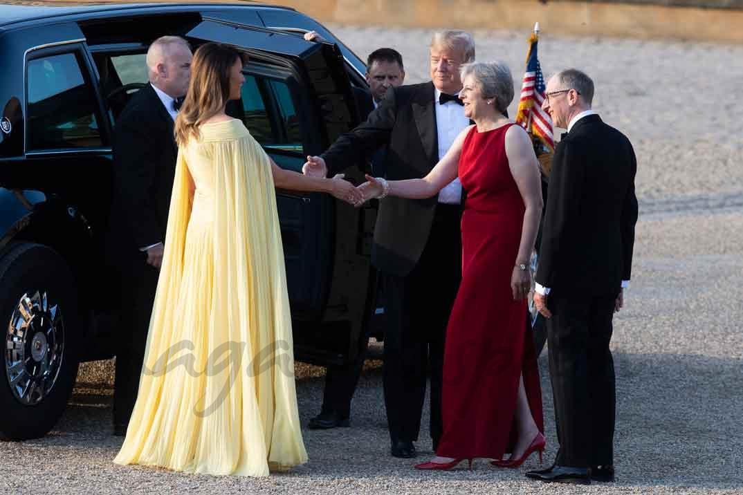 Philip May, Melania Trump, Donald Trump y Theresa May