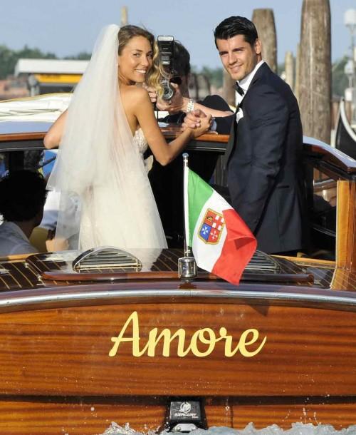 Álvaro Morata y Alice Campello ¡ya son padres de gemelos!
