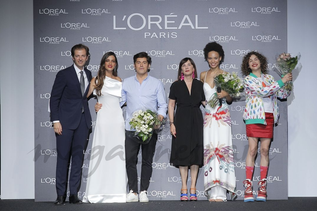 Sara Carbonero con los premiados