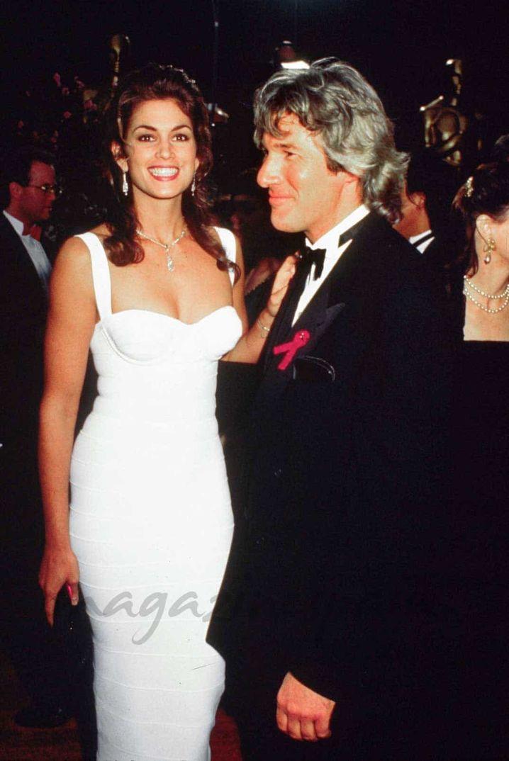 Richard Gere con Cindy Crawford - 1991