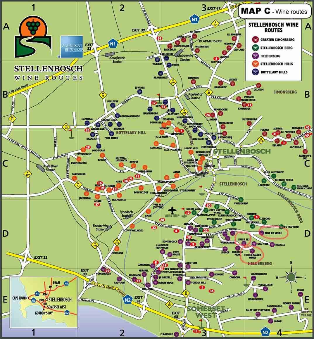 Mapa-Stellenbosch