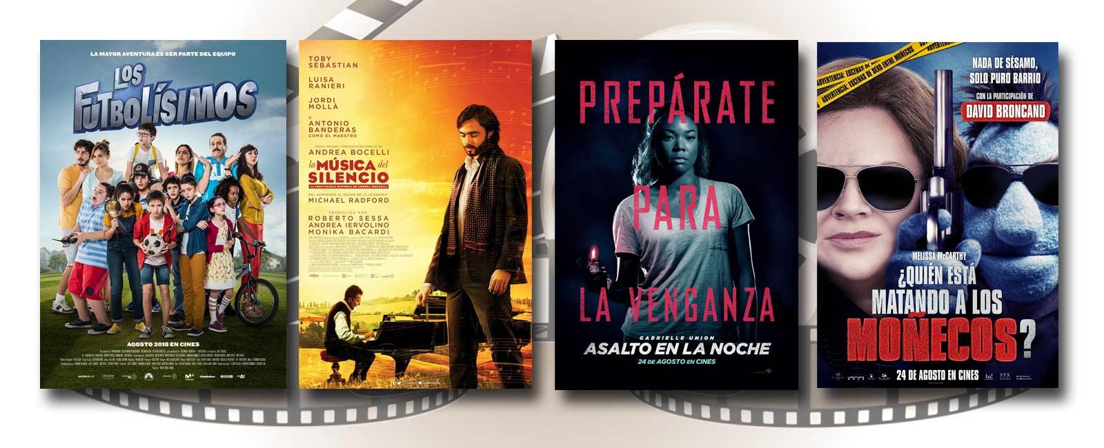Estrenos de Cine de la Semana… 24 de Agosto 2018