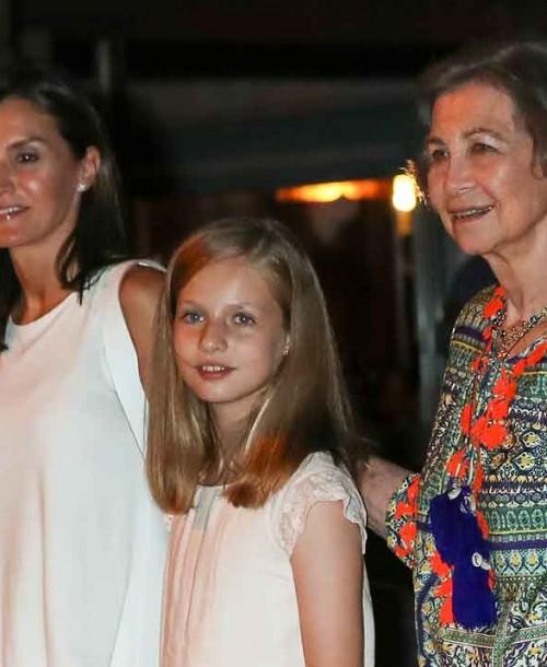 La Familia Real, de cena en Palma