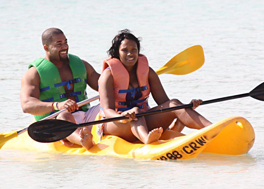 Jennifer Hudson con David Otunga - Bahamas - 2010