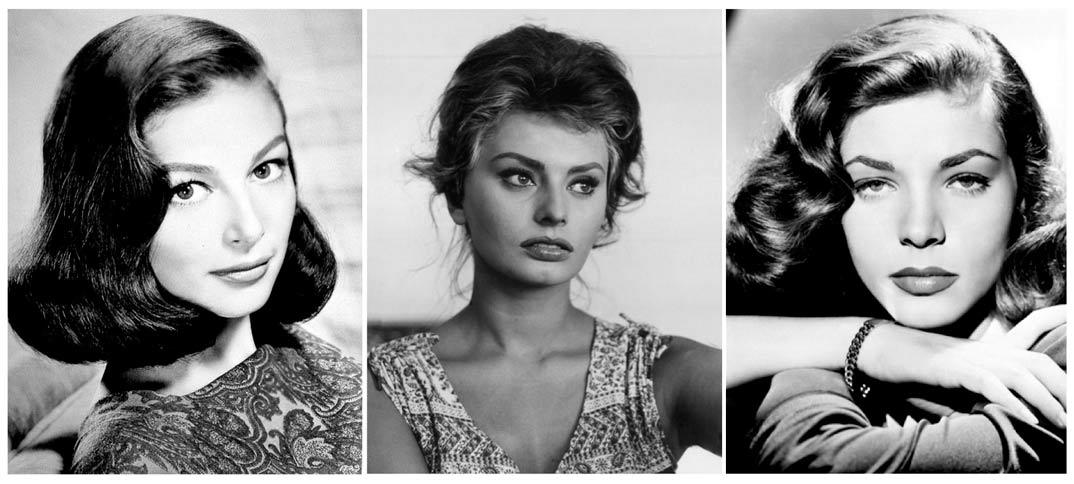Cejas naturales - Hollywood clásico - Ava Gardner, Sofía Loren, Lauren Bacall