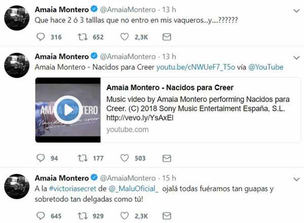 Amaia Montero Twitter