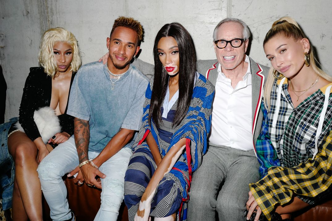 Nicki Minaj, Lewis Hamilton, Winnie Harlow, Tommy Hilfiger y Hailey Baldwin