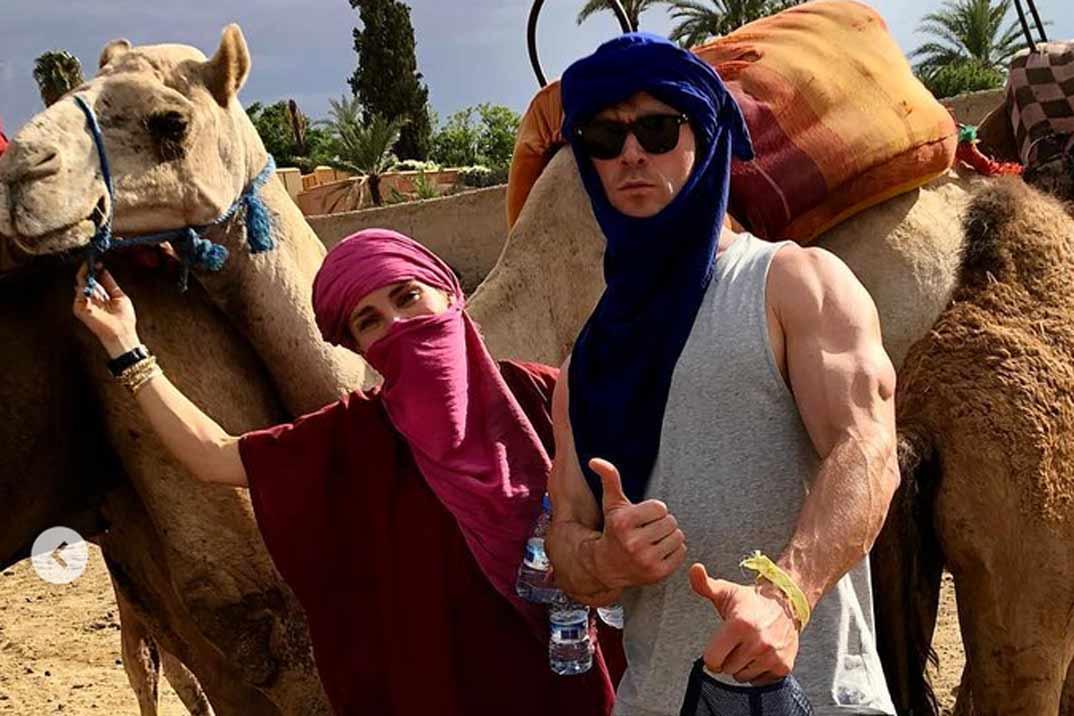 Las divertidas vacaciones de Chris Hemsworth y Elsa Pataky en Marruecos