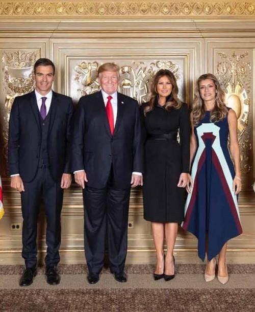 El duelo de estilo de Begoña Gómez y Melania Trump