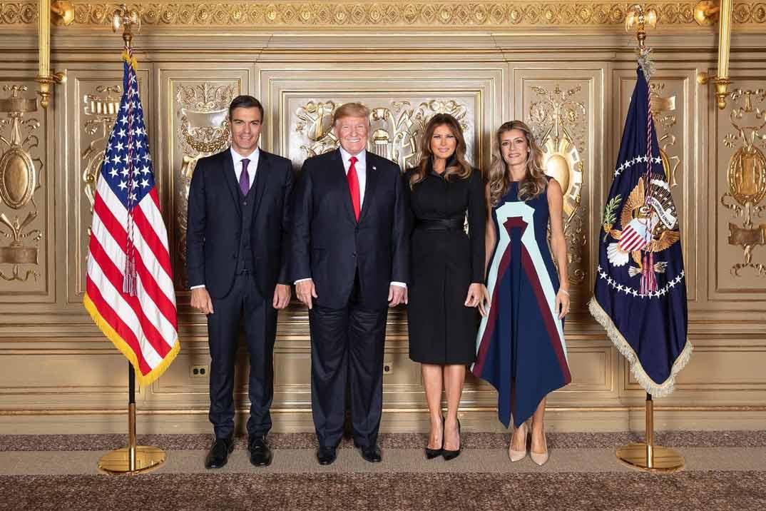Pedro Sánchez, Donald Trump, Melania Trump, Begoña Gómez Twitter ACME