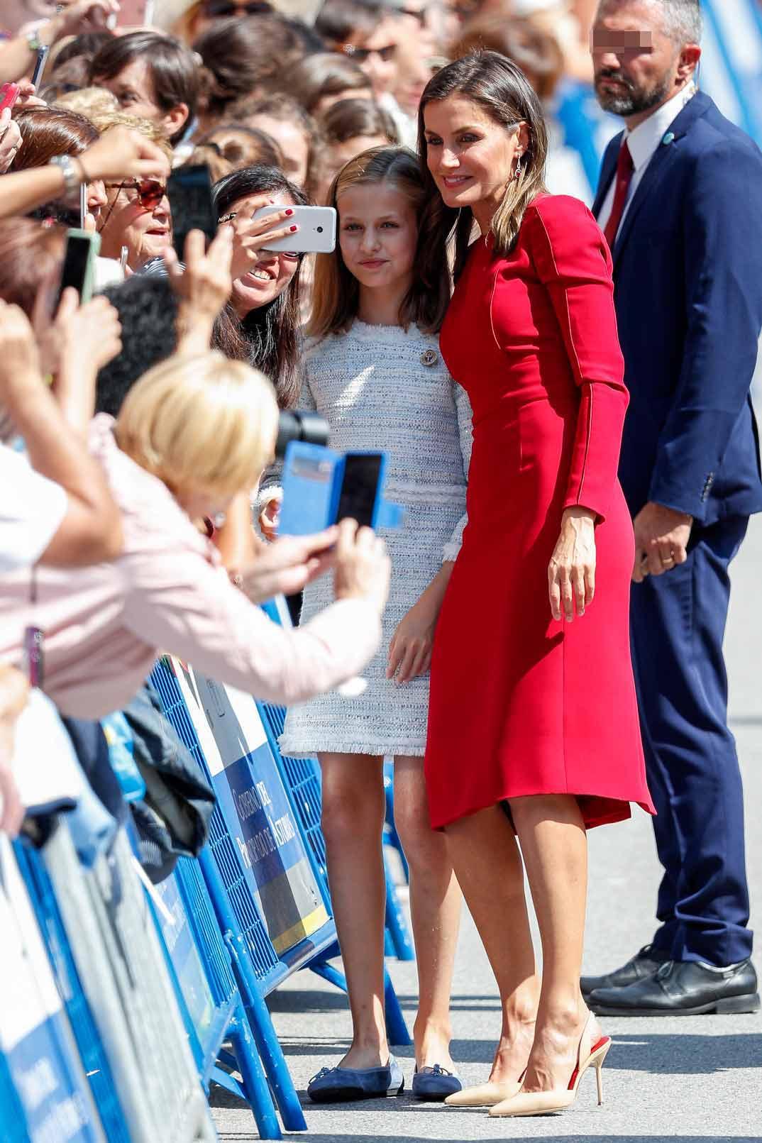 La reina Letizia con la princesa Leonor