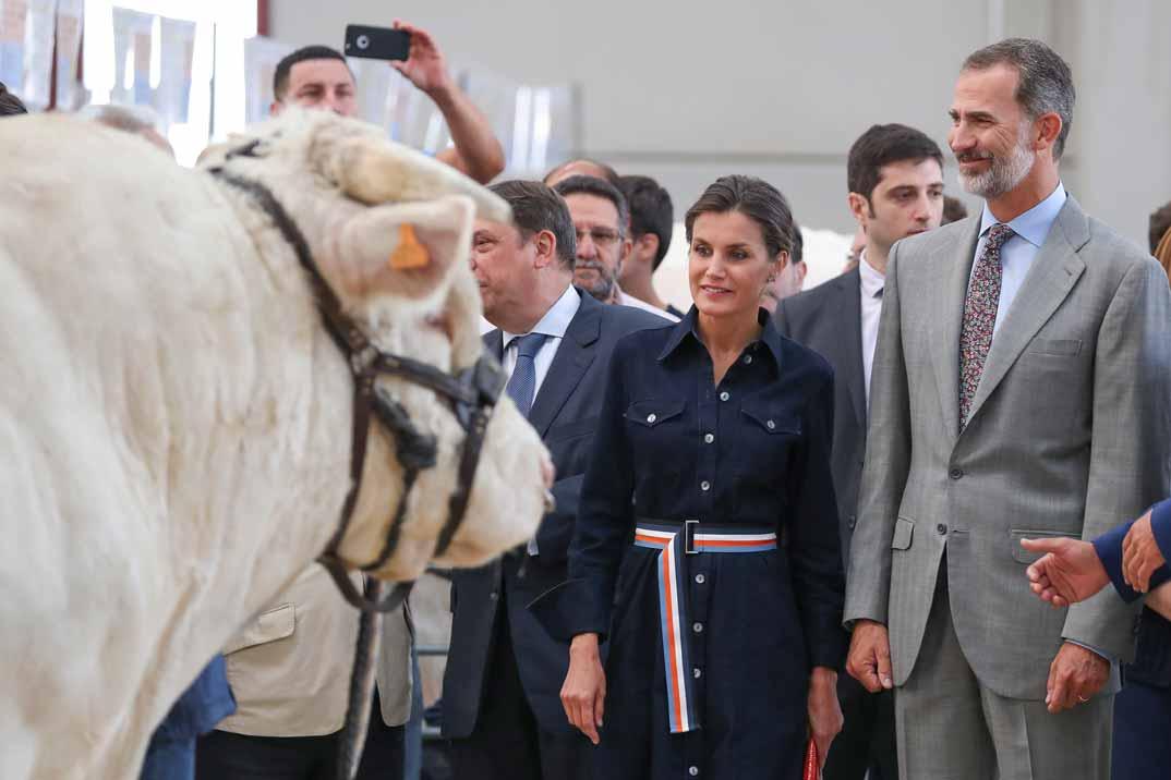 La reina Letizia retoma su agenda con el mismo look con el que la terminó