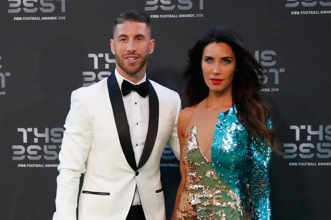 """Sergio Ramos y Pilar Rubio, la pareja con más estilo de los Premios """"The Best"""""""