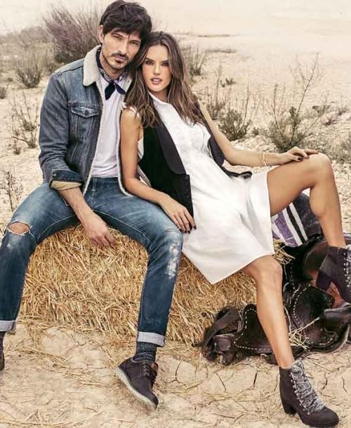 Alessandra Ambrossio y Andrés Velencoso, una pareja diez en la nueva Campaña de Xti