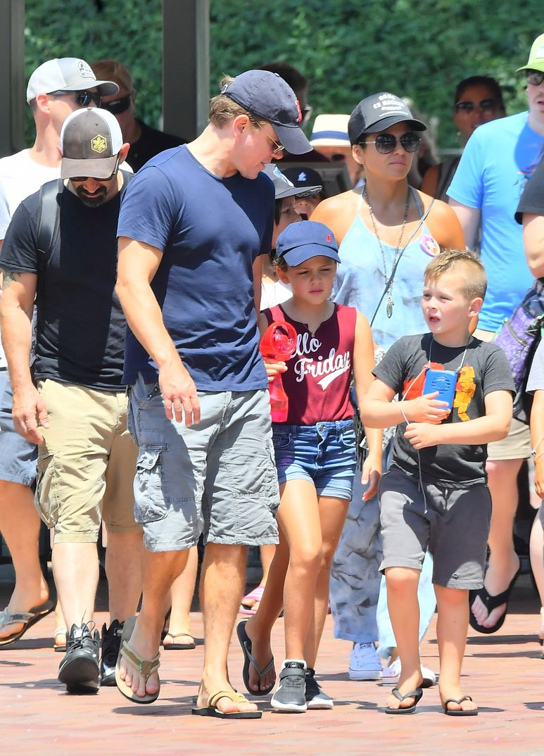 Matt Damon con su familia - 2018