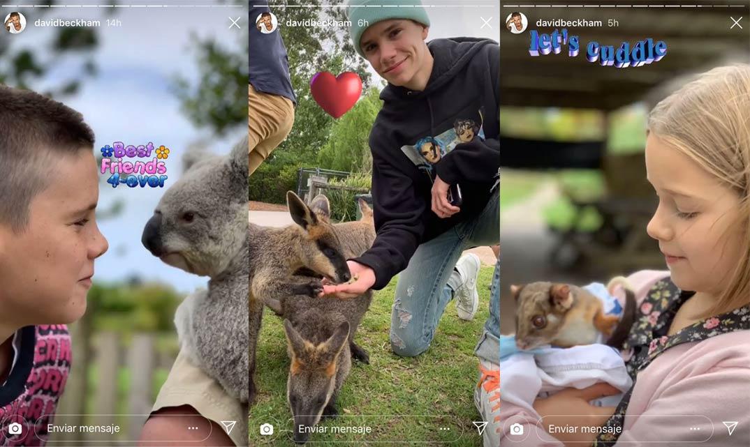 Familia Beckham Australia © Instagram
