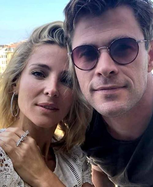 La romántica felicitación de Elsa Pataky a Chris Hemsworth