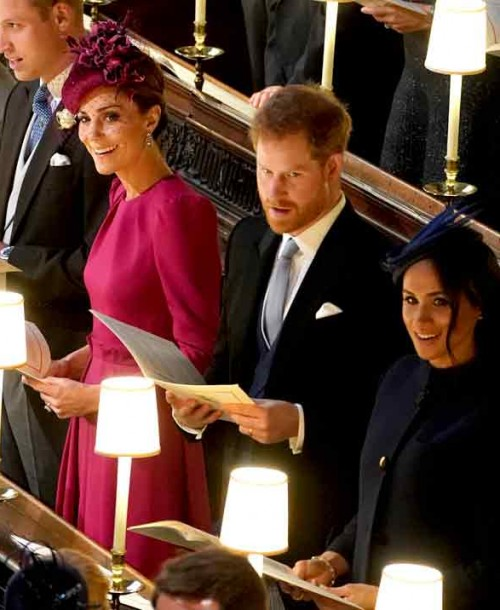 El duelo de estilo de Kate Middleton y Meghan Markle en la boda de la princesa Eugenia de York