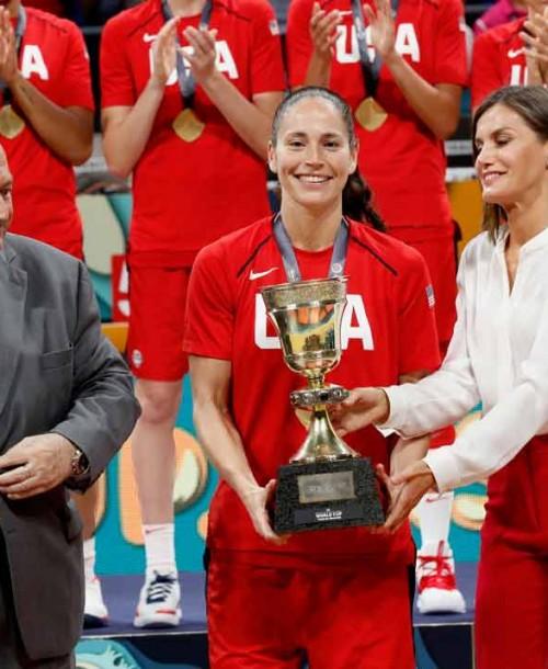 La reina Letizia celebra el triunfo de la Selección Femenina de Baloncesto