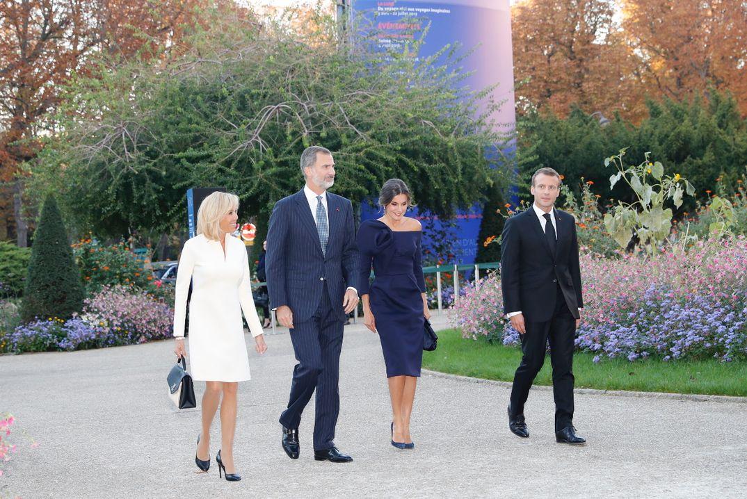 Reyes Felipe y Letizia con el Presidente de la República Francesa, Emmanuel Macron, y la Primera Dama, Brigitte Macron