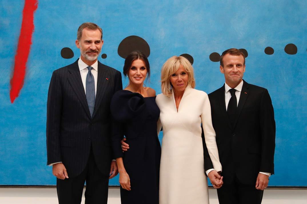 Así ha sido la visita de los Reyes a la exposición de Joan Miró en París