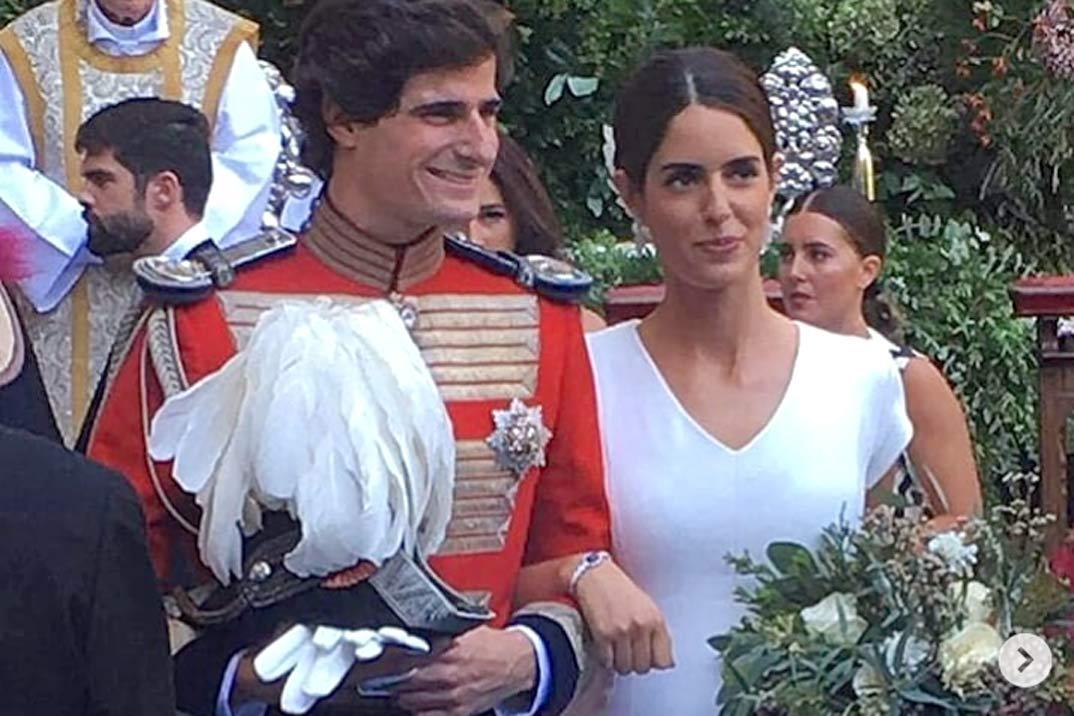 Así ha sido el elegante y sencillo vestido de novia de Sofía Palazuelo
