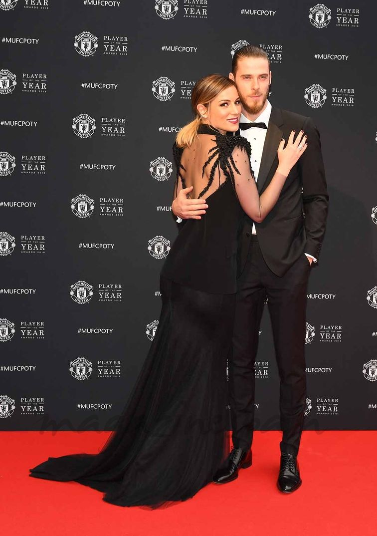 Edurne y David de Gea - Player of The Year - Manchester - 2018