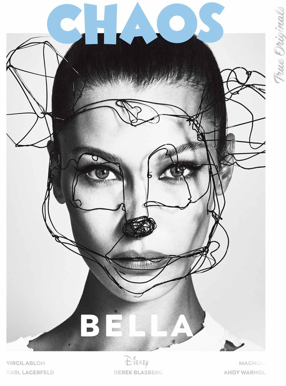 Model - Bella Hadid @BellaHadid Magazine - @Chaos True Originals Photographers - @LuigiandIango Fashion - B Akerlund @bcompleted Hair - @LuigiMurenu Make up - @ErinParsonsMakeUp