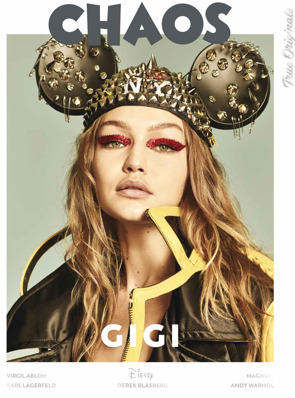 Model - Gigi Hadid @GigiHadid Magazine - @Chaos True Originals Photographers - @LuigiandIango Fashion - B Akerlund @bcompleted Hair - @LuigiMurenu Make up - @ErinParsonsMakeUp