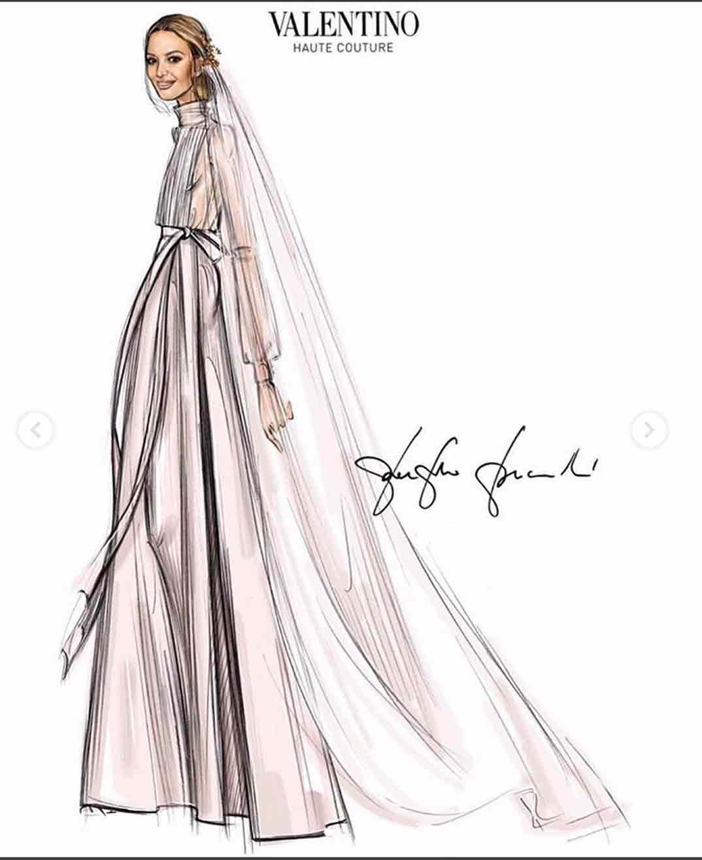 Marta Ortega vestido novia Valentino © Instagram/maisonvalentino