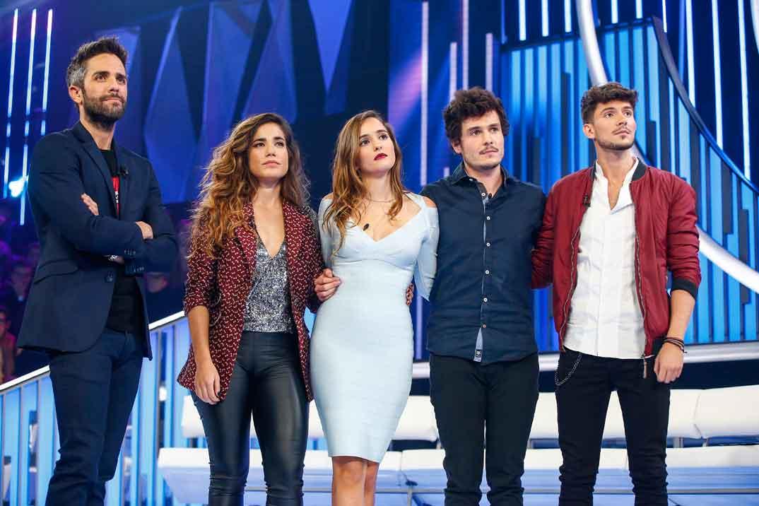 Roberto Leal con Carlos, Marilia, Miki y Julia - Operación Triunfo 2018