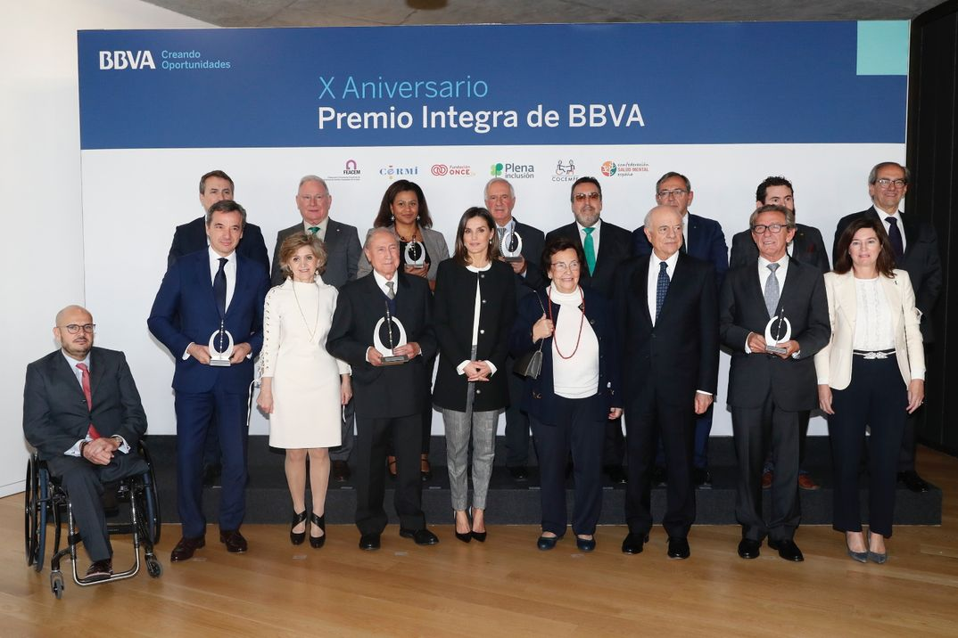 Reina Letizia - Premios Integra de BBVA © Casa S.M. El Rey